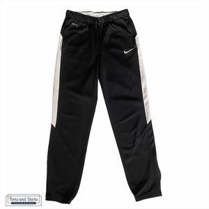 Nike Men's Black & White Zippered Track Pant